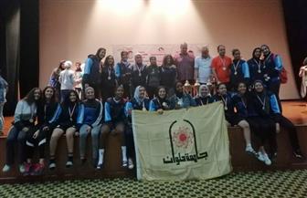 جامعة حلوان تفوز بالمركز الأول في الأوليمبياد الثالث للفتاة | صور
