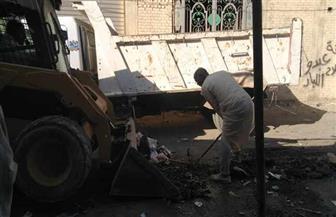 حملات إزالة تعديات ورفع إشغالات في مركز طامية بالفيوم | صور