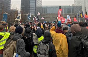 آلاف المتظاهرين في بروكسل ضد العنف بحق النساء