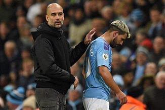 جوارديولا يؤكد غياب أجويرو لعدة أسابيع
