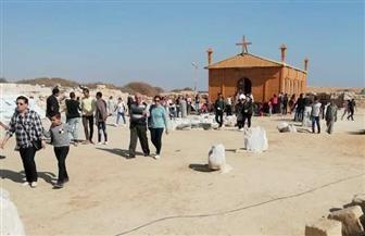 منطقة آثار أبومينا بالإسكندرية تستقبل وفود الزائرين في ذكرى استشهاد القديس| صور