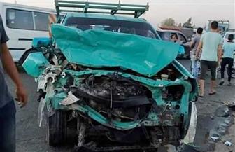 مصرع وإصابة 29 في تصادم سيارتي نقل عمال بطريق النجاح بنطاق محافظة الجيزة