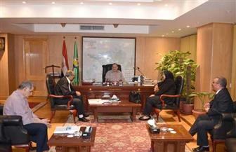 محافظ الفيوم يلتقي بمسئولي الهيئة القومية لسلامة الغذاء لقطاع شمال الصعيد | صور