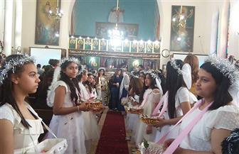 """أقباط الشرقية يستقبلون رفاة القديسة تريزا الملقبة بـ""""يسوع الطفل"""""""