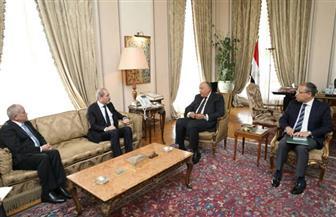 شكري يؤكد على الموقف المصري من الالتزام بقرارات الشرعية الدولية حول وضعية المستوطنات الإسرائيلية | صور