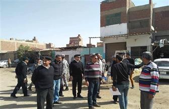 حملة لإزالة التعديات على أراضي الدولة بحي الأربعين بالسويس