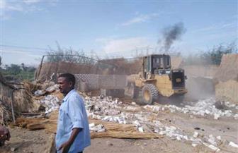إزالة 171 حالة تعد على أراضي أملاك الدولة بمدينة إسنا جنوب الأقصر | صور