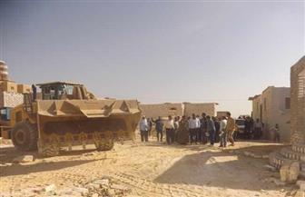 إزالة 16 حالة تعد بالزراعة على أراض من أملاك الدولة في حملة بالفيوم | صور