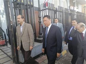 وفد قضائي صيني يزور مجمع محاكم الإسكندرية | صور