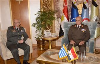 الفريق محمد فريد رئيس أركان حرب القوات المسلحة يلتقي قائد القوات البرية اليونانية