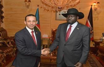 سفير مصر الجديد في جوبا يقدم أوراق اعتماده للرئيس الجنوب سوداني