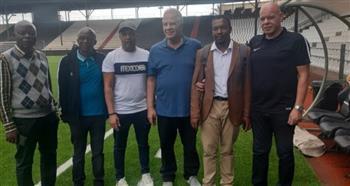 منسق المباراة ومدير مازيمبي يزوران معسكر الزمالك