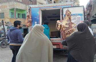 قافلة لبيع اللحوم بأسعار مخفضة في قرى مركز زفتى بالغربية | صور
