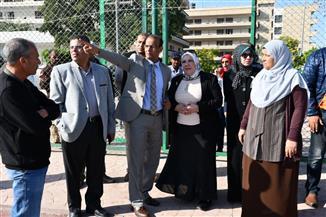 رئيسة جامعة قناة السويس تتفقد الحرم الجامعي| صور