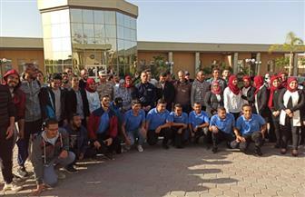 طلاب تربية رياضية حلوان يزورون مركز زايد الطبي لذوي القدرات الخاصة
