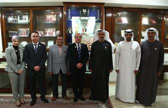 هشام حطب يستقبل وفد مجلس أبو ظبي الرياضى بحضور رئيس اتحاد الجمباز   صور