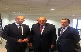 وزراء خارجية مصر واليونان وقبرص: الاتفاق الأمنى التركي الليبي ليس له أثر قانونى ولن يعتد به