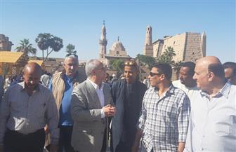 محافظ الأقصر يتفقد ساحة سيدي أبو الحجاج ويوجه باستكمال خطة التجميل| صور