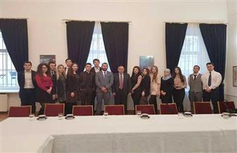 سفير مصر في روسيا يستقبل وفدا من الباحثين بالدراسات العربية والشرق أوسطية بالجامعات الروسية