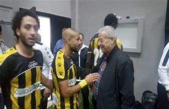 رئيس المقاولون العرب يهنئ اللاعبين والجهاز الفني بالفوز