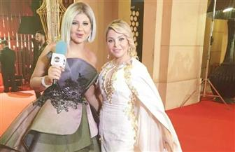 رزان مغربى تتألق بالفستان الأبيض فى مهرجان القاهرة السينمائى الدولى