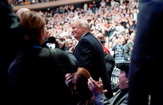 بعد إعلانه الرحيل عن المدينة.. ترامب يشهد عرضا  للمصارعة فى نيويورك | صور