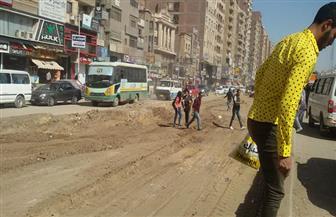 محافظة القاهرة تعيد تخطيط ميدان الألف مسكن مروريا | صور