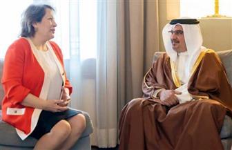 سفيرة مصر في المنامة تسلم ولي العهد البحريني دعوة لحضور منتدى شباب العالم