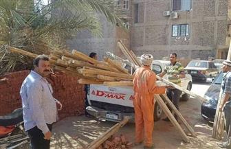 إزالات فورية لـ 13 حالة تعد وبناء مخالف بسوهاج | صور