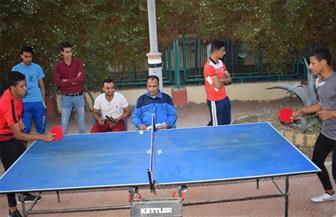 انطلاق بطولة تنس الطاولة للمدن الجامعية بسوهاج | صور