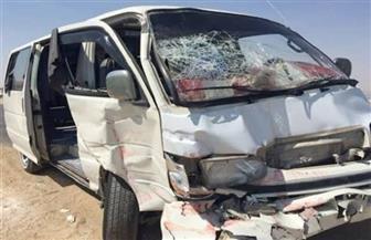 بالأسماء.. إصابة 12 مواطنا في حادث تصادم بالطريق الصحراوى الشرقى في ملوى