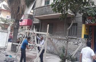 انهيار أجزاء من عقار قديم دون إصابات بحي المنتزه شرق الإسكندرية | صور