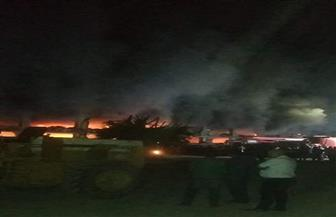 """30 سيارة إطفاء للسيطرة على حريق بمصنع """"دراجات بخارية"""" بالقليوبية"""