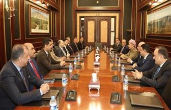 """مسعود بارزاني يناقش الوضع العراقي مع وفد """"الرافدين للحوار"""""""