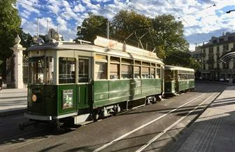 جنيف تحتفل بمرور مائة عام على تسيير الترام بها | صور