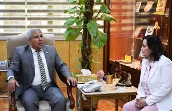 محافظ أسوان يعقد اجتماعا مع نائب وزارة الزراعة| صور