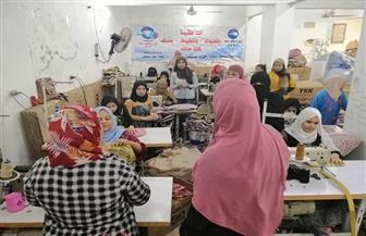 دورات تدريبية للفتيات والسيدات على صناعة الشنط الجلدية بسوهاج | صور