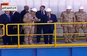 الرئيس السيسي يقوم بجولة تفقدية لبعض المشروعات القومية الكبرى بالسويس