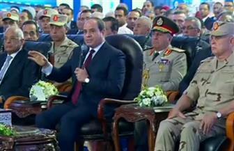 """الرئيس السيسي: """"سأفتتح مشروعات جديدة يوميا علشان المصريين يشوفوا اللي بيتعمل"""""""
