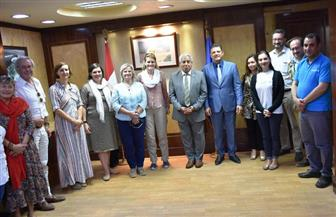 محافظ أسوان يلتقي وفد منظمة اليونيسيف | صور