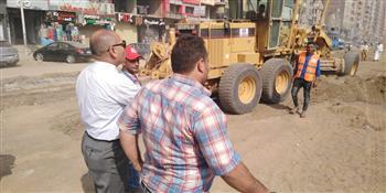 نائب محافظ القاهرة يتفقد أعمال توسعة جسر السويس| صور