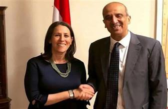 مندوب مصر بالاتحاد الإفريقى يستقبل نظيرته الأمريكية