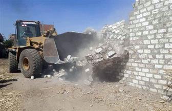 إزالة 47 حالة تعد على أملاك الدولة والأراضي الزراعية في سوهاج