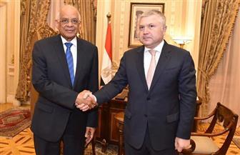 رئيس البرلمان يستقبل سفير أرمينيا بالقاهرة | صور