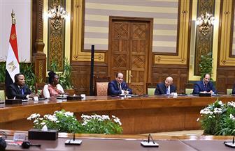 الرئيس السيسي يستقبل عددا من رؤساء الوفود المشاركة في مؤتمر شبكة المؤسسات الوطنية لحقوق الإنسان | فيديو