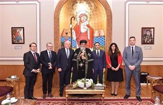 البابا تواضروس يستقبل وفد الجمعية البرلمانية للأمن والتعاون في أوروبا | صور