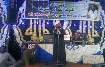 """ياسين التهامي يحيي احتفال أهالي """"الكاجوج"""" بأسوان بالمولد النبوي   صور"""