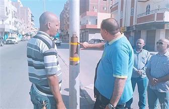 رئيس مدينة الغردقة يقود حملات مكثفة لعزل الكابلات الكهربائية أمام المدارس | صور