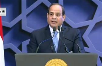 الرئيس السيسي: سنواجه الشر بالخير واليأس بالعمل