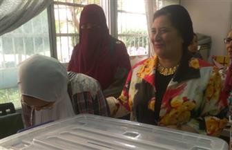 أفراح وزغاريد في انتخابات الطالبات بكلية البنات جامعة عين شمس| صور